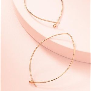 Stella & Dot Large Hammered Hoops